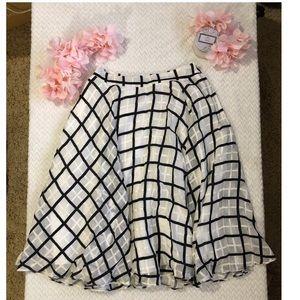 bebe Plaid A-Line Skirt